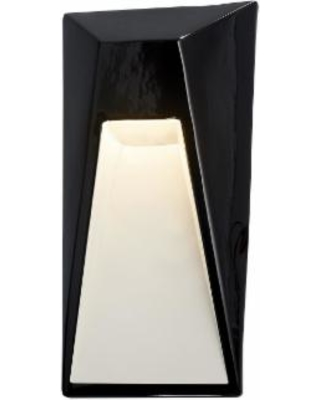 Justice Design Group Ambiance Collection 15 Inch LED Wall Sconce - CER-5680-BKMT