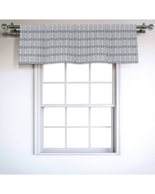 "Geometric 54"" Window Valance East Urban Home"