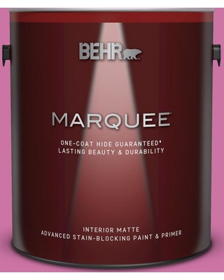 BEHR MARQUEE 1 gal. #P120-4 Heart Breaker Matte Interior Paint and Primer in One