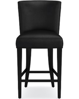 Trevor Counter Stool, Tuscan Leather, Black