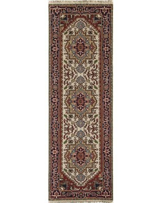 """Clarendale Oriental Hand-Knotted Wool Area Rug World Menagerie Rug Size: Runner 2'6"""" x 8'"""