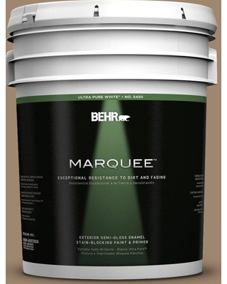 BEHR MARQUEE 5 gal. #700D-5 Toffee Crunch Semi-Gloss Enamel Exterior Paint and Primer in One