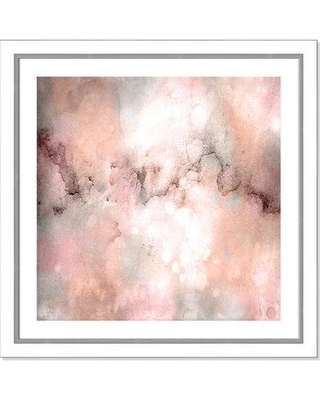 Bungalow Rose 'Blush Tones' Framed Acrylic Painting Print W001144394