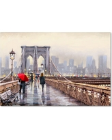 'Brooklyn Bridge' by The Macneil Studio Ready to Hang Canvas Wall Art, Multicolored