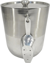 Hammered Metal Ice Bucket with Tongs - Threshold, Clear