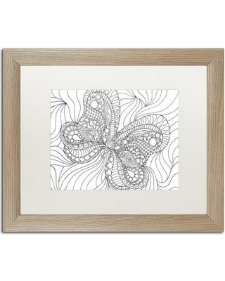 """Trademark Fine Art """"Mixed Coloring Book 57"""" by Kathy G. Ahrens Framed Graphic Art ALI3482-T1 Size: 16"""" H x 20"""" W x 0.5"""" D Matte Color: White"""