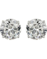 Sterling Silver Cubic Zirconia Round Stud Earring
