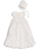 Infant Little Things Mean A Lot Princess Gown, Size 18M - White