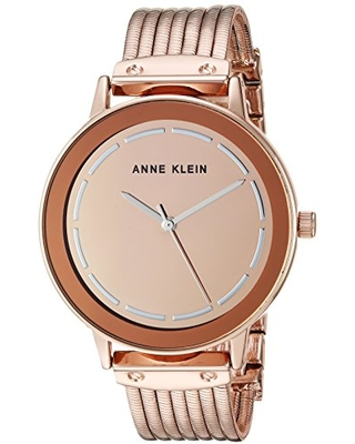 Anne Klein Women's Gold-Tone Chain Bracelet Watch