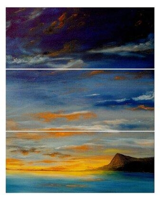 East Urban Home 'Distant Mountain' Photographic Print Multi-Piece Image on Wrapped Canvas FCIV5397