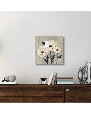 """East Urban Home 'Graphic Floral I' Graphic Art Print on Canvas UBAH5935 Size: 24"""" H x 24"""" W x 1.5"""" D"""
