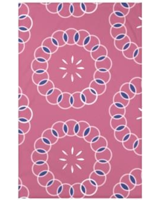 """e by design Happiness Is… Floral Print Polyester Fleece Throw Blanket HFN185 Size: 60"""" L x 50"""" W x 0.5"""" D Color: Pink Cheeks"""