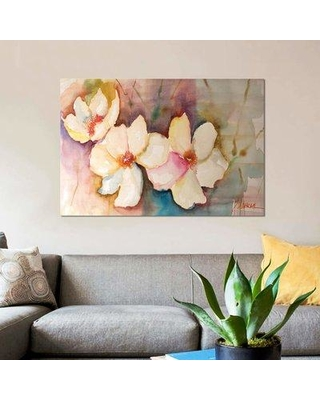 "East Urban Home 'Horizontal Flores VII' Print on Canvas EBHS1844 Size: 12"" H x 18"" W x 1.5"" D"