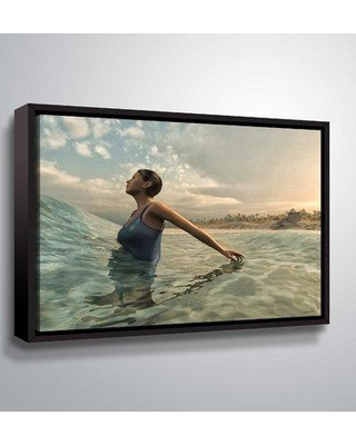 """East Urban Home 'Bather' Graphic Art Print on Wrapped Canvas BF044397 Size: 8"""" H x 10"""" W x 2"""" D Format: Floater Frame"""