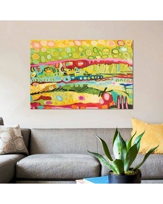 """East Urban Home 'Abstract Bohemian' Print on Canvas ESUI1451 Size: 26"""" H x 40"""" W x 1.5"""" D"""
