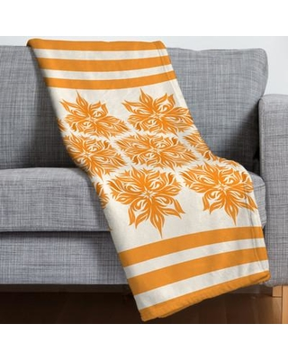 East Urban Home Creamsicle Floral Throw Blanket ESRB3555