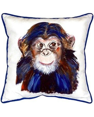 Betsy Drake Interiors Chimpanzee Indoor/Outdoor Throw Pillow HJ280 / SN280 Size: Large