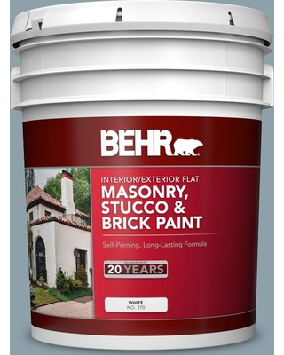 BEHR 5 gal. #N480-4 French Colony Flat Interior/Exterior Masonry, Stucco and Brick Paint