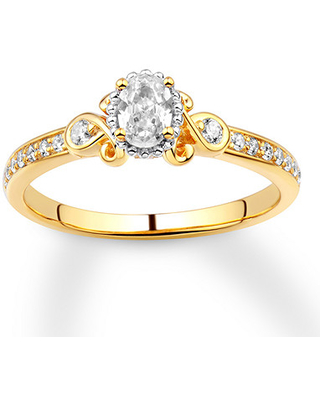 Jared Diamond Engagement Ring 1/2 ct tw Oval-cut 14K Yellow Gold