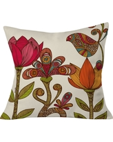 """Pink Valentina Ramos In The Garden Throw Pillow (20""""x20"""") - Deny Designs, Multi-Colored"""