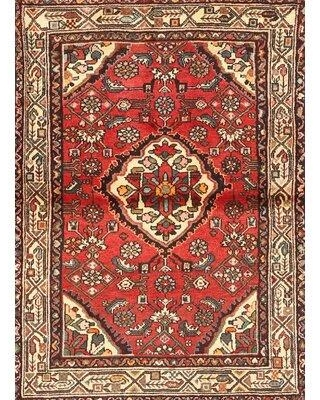 Bloomsbury Market Polemoine Traditional Red/Beige/Brown Area Rug X112035925 Rug Size: Rectangle 5' x 7'