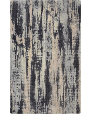 Rugsmith Oak Contemporary Modern Grey 3 ft. x 5 ft. Area Rug, Gray