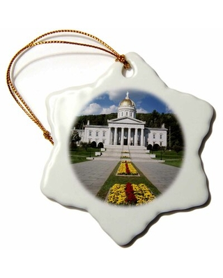 State Capitol Building Snowflake Holiday Shaped Ornament