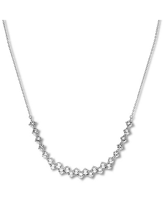 Lab-Created White Sapphire Necklace Sterling Silver