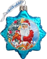 The Holiday Aisle Santa's Gingerbread House Glass Ornament THLY6694