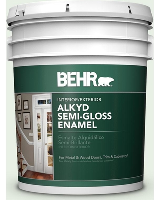 BEHR 5 gal. #S400-1 At Ease Urethane Alkyd Semi-Gloss Enamel Interior/Exterior Paint