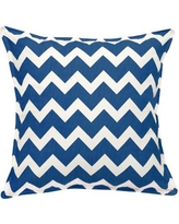 Greendale Home Fashions Chevron Cotton Canvas Throw Pillow TP5213- Color: Marine