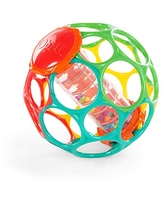 Bright Starts Oball Rollin' Rainstick Rattle Easy-Grasp Toy, Ages 3 Months +