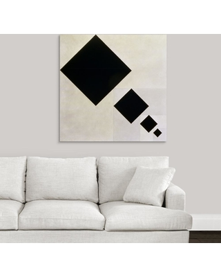 """36 in. x 36 in. """"Arithmetic composition"""" by Theo van Doesburg Canvas Wall Art, Multi-Color"""