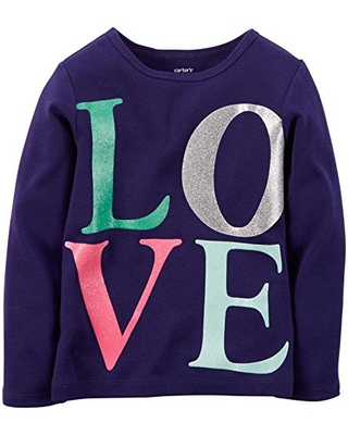 Carter's Baby Girl's Graphic Top - Love - 9 Months