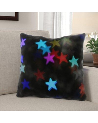 Find The Best Deals On The Holiday Aisle Norborne Star Indoor Outdoor Canvas Throw Pillow Polyester Polyfill In Blue Pink Black Size 18x18 Wayfair