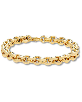 """Jared The Galleria Of Jewelry Rolo Chain Bracelet 14K Yellow Gold 8"""""""