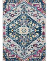 """Well Woven Mystic Gwendolyn Bohemian Floral Distressed Multi-Color 5'3"""" x 7'3"""" Area Rug"""