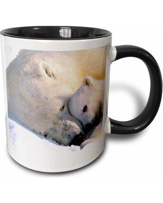 East Urban Home Polar Bear and Cub Coffee Mug W000831980