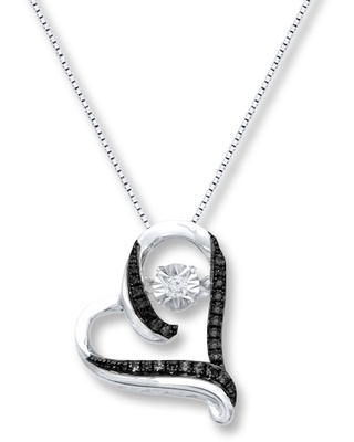 Jared The Galleria Of Jewelry Diamonds in Rhythm 1/5 ct tw Black Sterling Silver Necklace