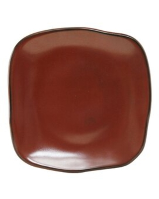 """Connellsville Square 9"""" Dessert Plate Foundry Select Color: Red Rock"""