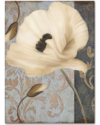 "Trademark Fine Art 'Poppy Brocade II' by Color Bakery Graphic Art on Wrapped Canvas ALI4093-C Size: 32"" H x 24"" W x 2"" D"