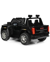 Costway Licensed GMC Ride on Truck RC Electric CarMetal in Blue, Size 29.0 H x 34.0 W x 53.5 D in   Wayfair TY327937GN