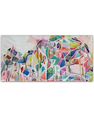 """East Urban Home 'Yushan' Painting Print on Wrapped Canvas EBHV7205 Size: 16"""" H x 32"""" W x 2"""" D"""