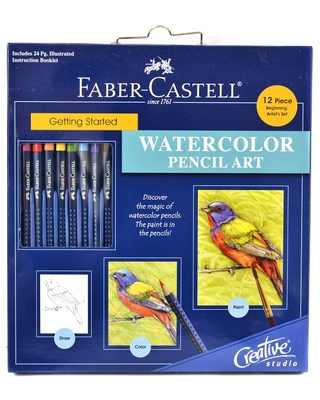 Creative Studio Getting Started Watercolor Pencil Art Kit 12ct - Faber-Castell