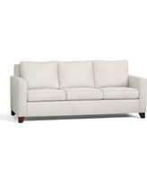 Cameron Square Arm Upholstered Deluxe Sleeper Sofa, Polyester Wrapped Cushions, Denim Warm White
