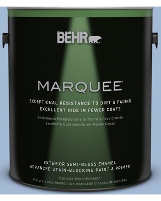 BEHR MARQUEE 1 gal. #M530-3 Perennial Blue Semi-Gloss Enamel Exterior Paint and Primer in One