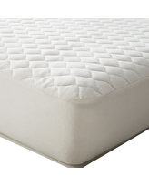 TL Care Organic Cotton Waterproof Quilted Fitted Crib Mattress Cover - Natural