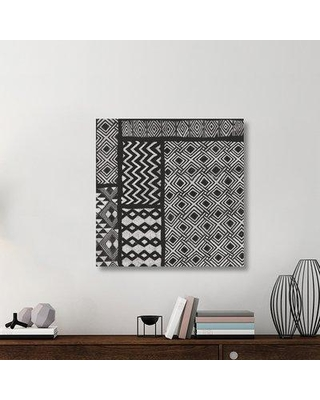 """East Urban Home 'Kuba Abstract I BW' Graphic Art Print on Canvas UBAH6041 Size: 36"""" H x 36"""" W x 1.5"""" D"""
