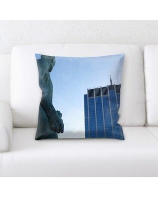 East Urban Home Statue Throw Pillow BF124040