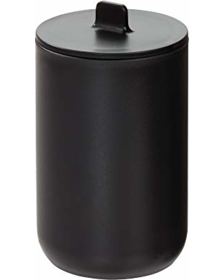Strange Idesign Idesign Canister Storage Jar With Lid For Cosmetics And Makeup Storage Bathroom Countertop Desk And Vanity Matte Black From Amazon Home Interior And Landscaping Ologienasavecom